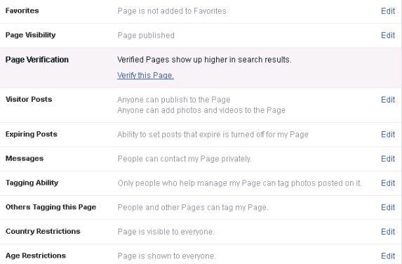 how to get grey tick on facebook page